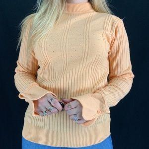 70s Sweater Bee Acrylic Sweater